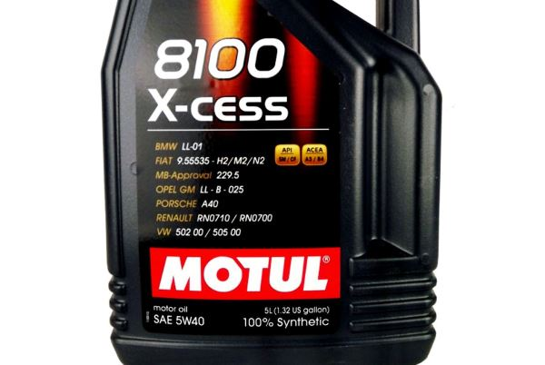 Cel mai bun ulei de motor - Motul 8100 X-cess 5w40