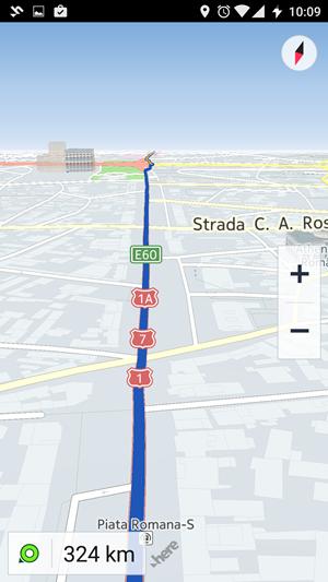 gps auto sau aplicatie GPS in smartphone Here WeGo