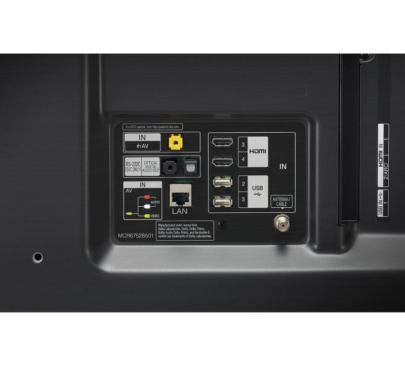 Review LG 49SM8050 - conexiuni, porturi HDMI
