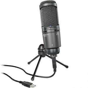 Cel mai bun Microfon pentru podcast - Audio-Technica AT2020USB+
